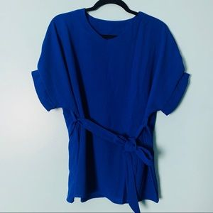 Short Sleeve Blouse Top IN BLUE